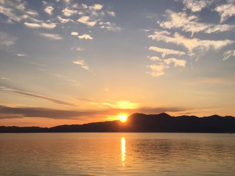 周防大島の夕日は美しい
