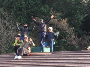 屋根の上でパシャリ