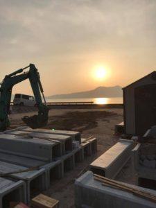 周防大島の夕日