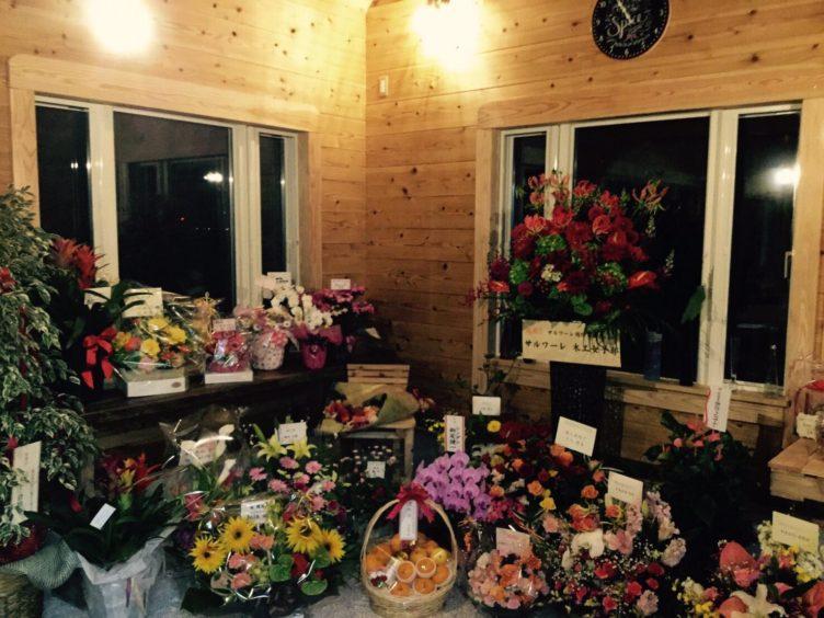 祝いの花々