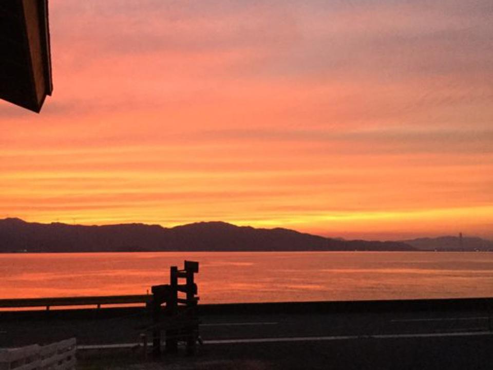 サルワーレ周防島から見える夕日